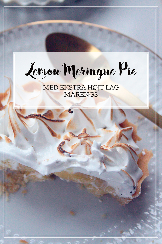 Opskrift lemon meringue pie citrontærte