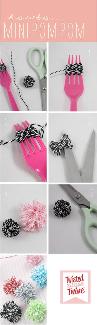 3 nemme måder at lave en pom pom på