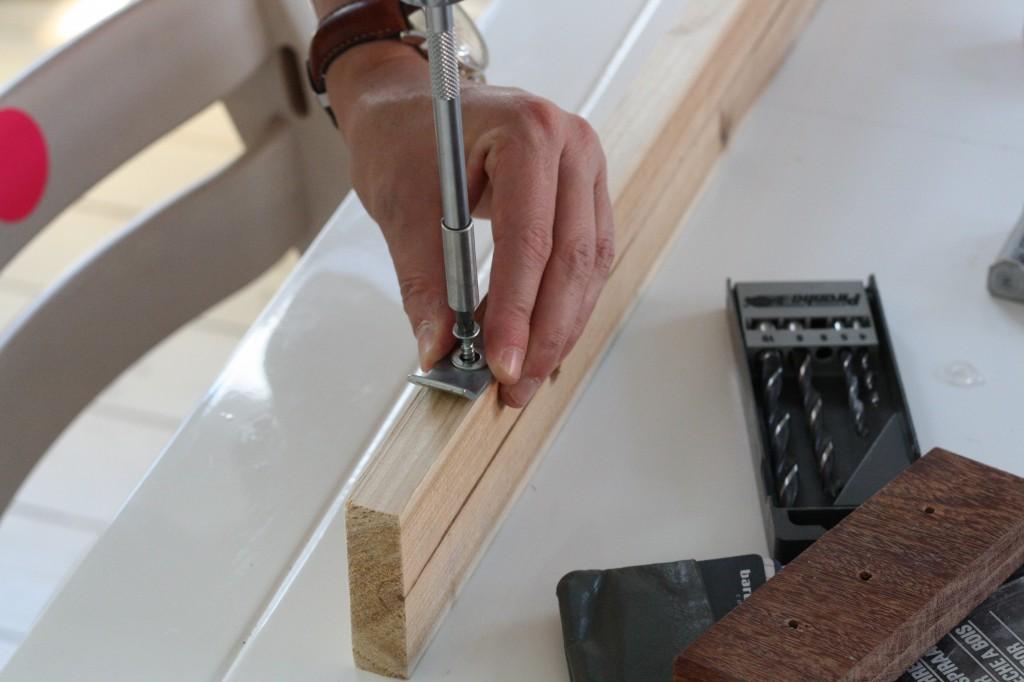 Industrielt marmor skrivebord DIY