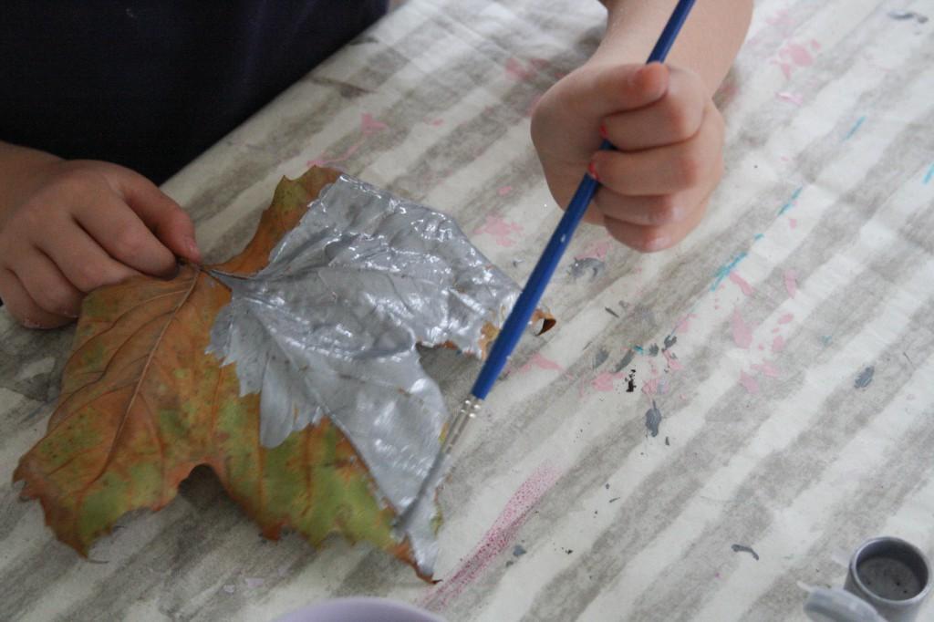 DIY guirlande efterår kreativ med børn_garland