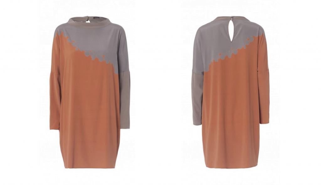 Efterårsmode Onsdagsønsker Whiite Silke kjole udsalg