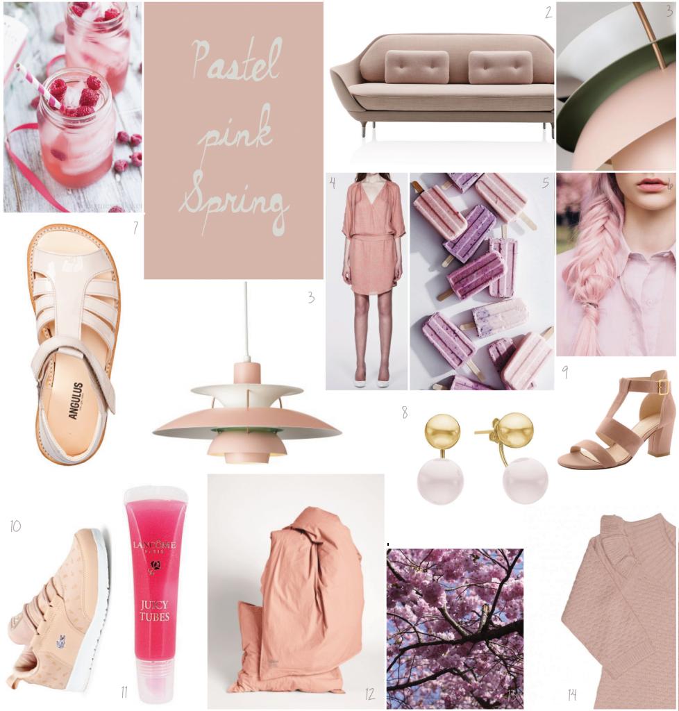Kom i godt humør med rosa pasteller