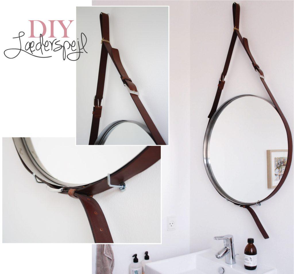 Lav et spejl med læderremme DIY