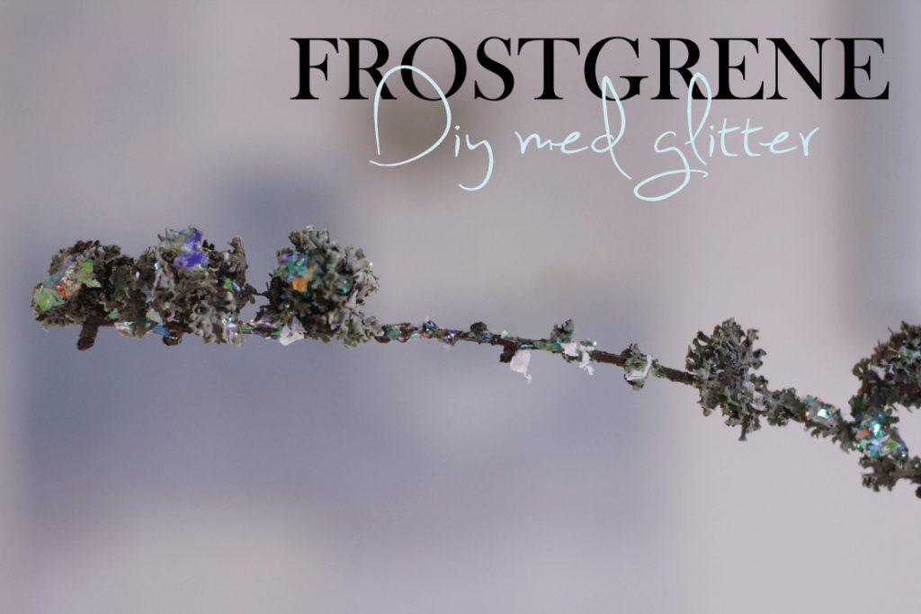 DIY - Smukke grene med glitrende frost