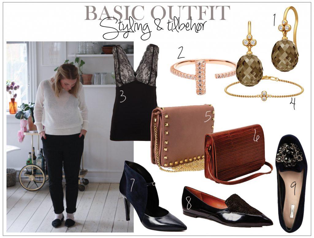 STyling og tilbehør til basis outfit
