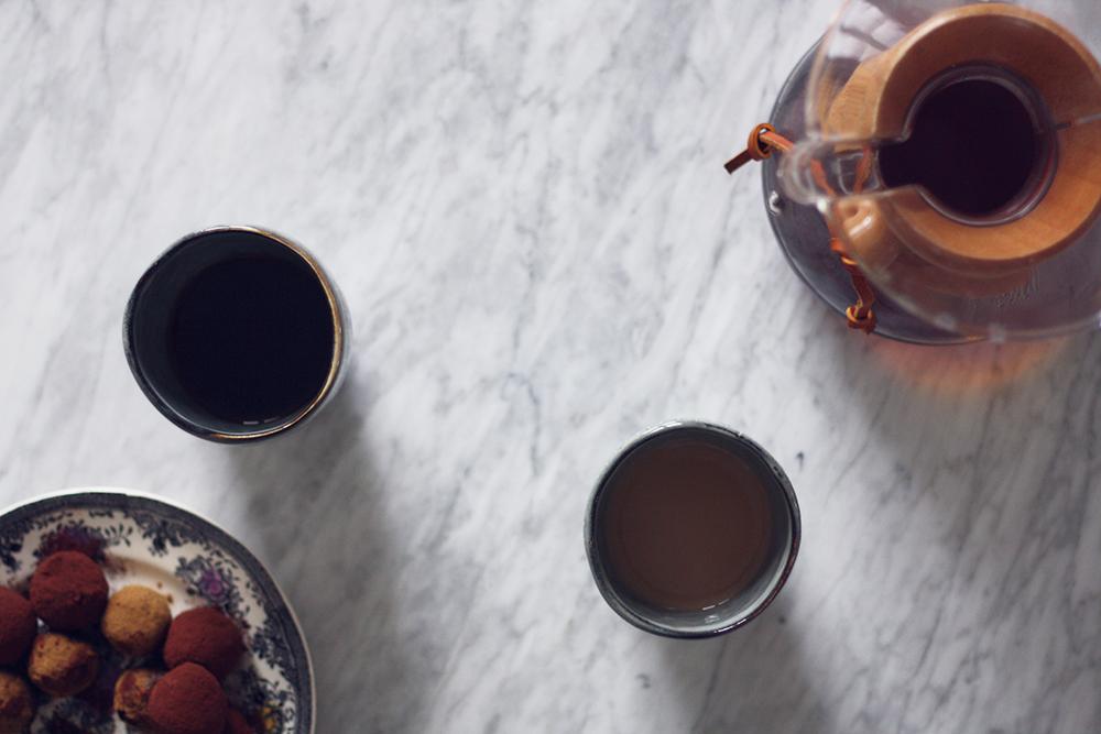 kaffebønner og populære bryggemetoder