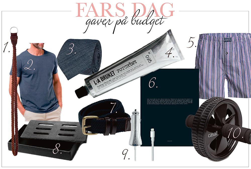 Gaveideer under 200 kr til Fars Dag