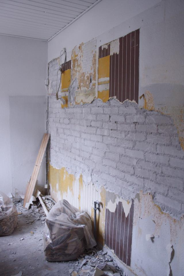 DIY - rå murstensvæg - Dorte Bak
