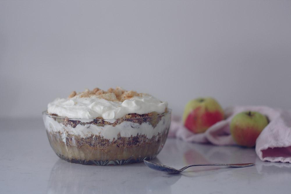 gammeldags æblekage klassisk opskrift