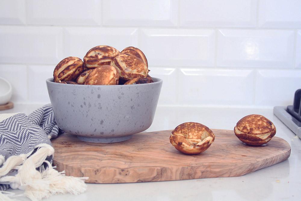 cheeseballs opskrift på æbleskiver med smeltet ost og bacon