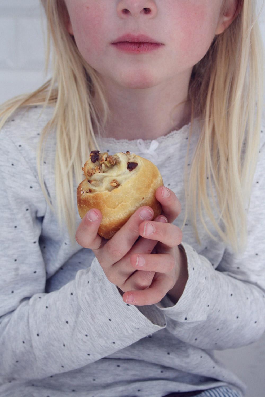 Madpakkemuffins banan og chokolade
