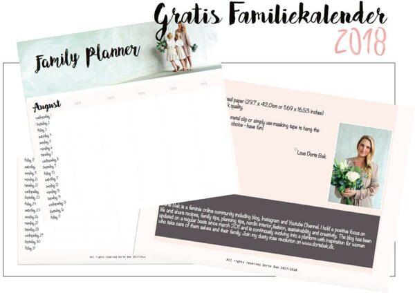 gratis familiekalender 2018