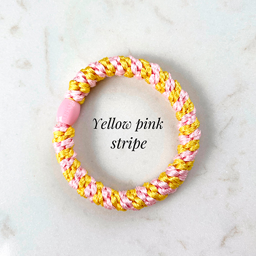 Knekki yellow pink stripe