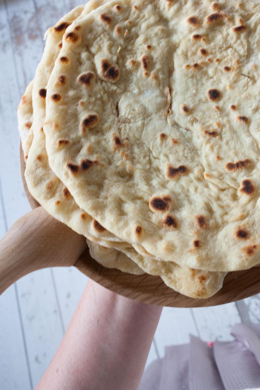 Pandestegt brød til pizza eller risretter
