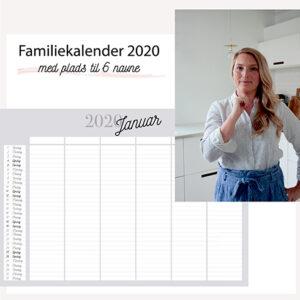Familiekalender 2020 6 navne