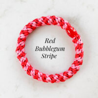 Kknekki red bubblegum stripe