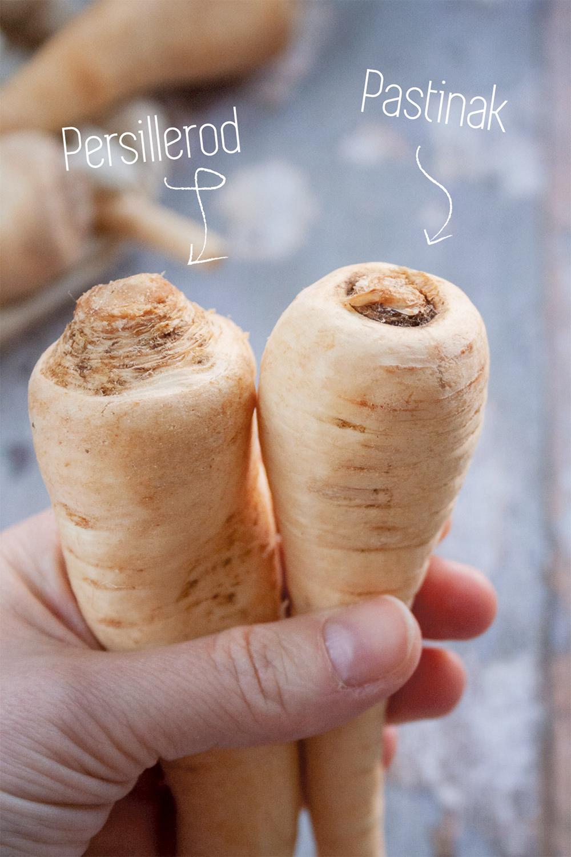 Sådan ser du forskel på persillerod og pastinak