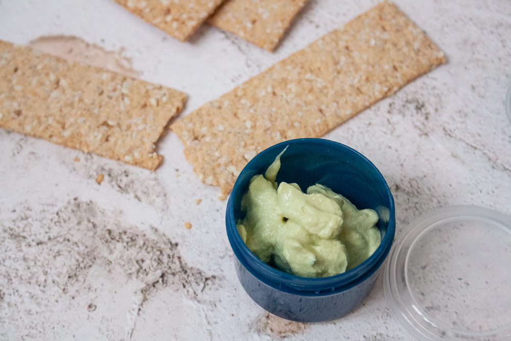 madpakke ide avocado dip opskrift
